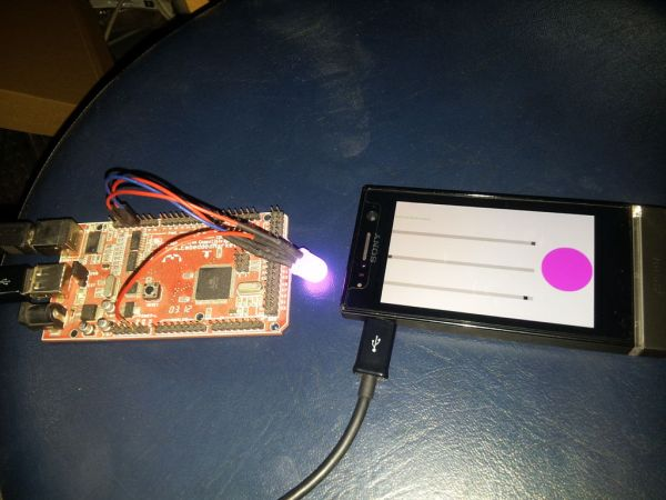 ANDROID+ARDUINOADK+RGB led