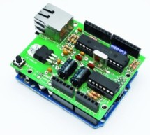 Low cost Ethernet shield with ENC28J60 using Arduino