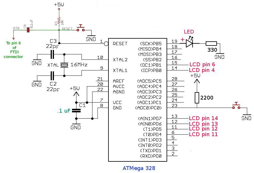 Arduino based Bingo Number Generator main circuit