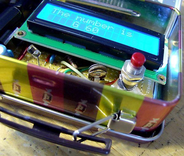 Arduino based Bingo Number Generator