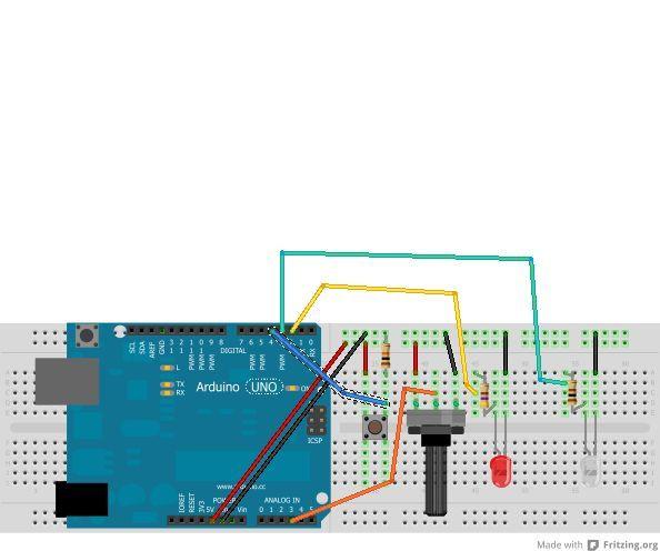 Arduino control TV functions circuit