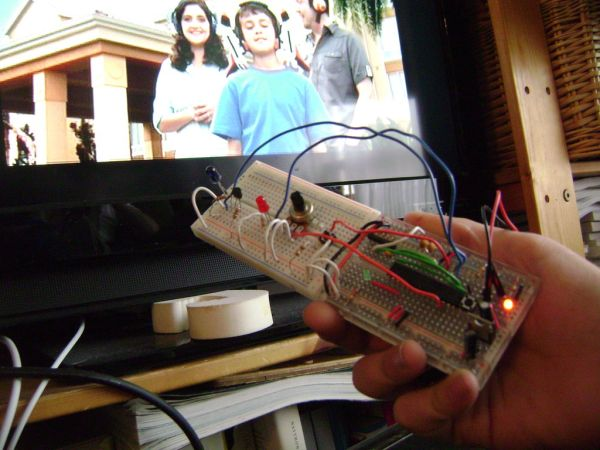 Arduino control TV functions