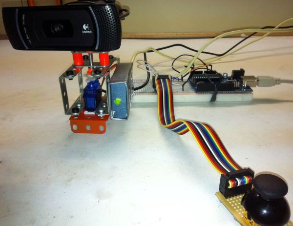 Arduino controlled webcam panner