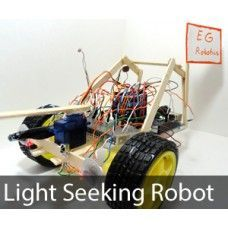 Arduino light seeking robot