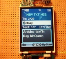 Cell phone text using an Arduino