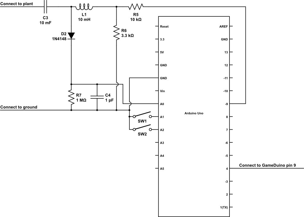 Circuit plant sing with Arduino