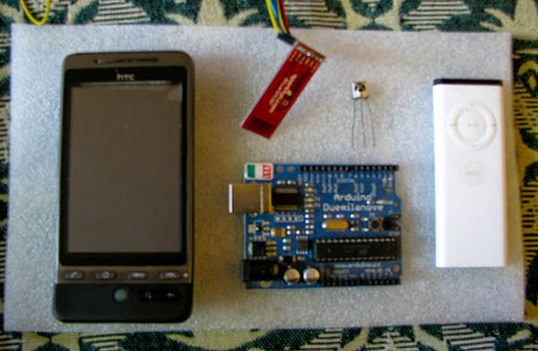 Control Android mobile using an Arduino