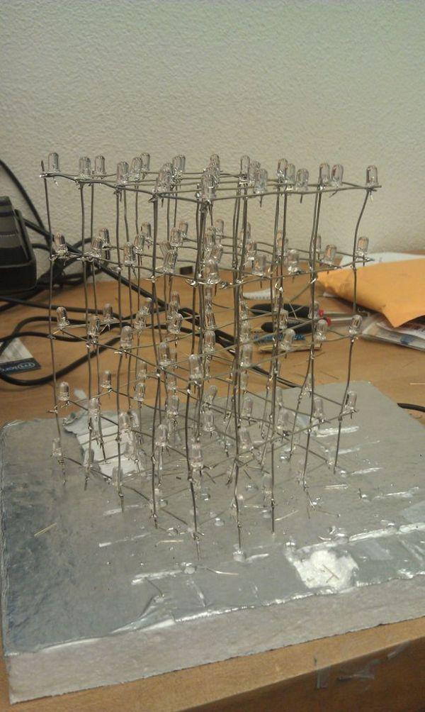 LED Cube construction using Arduino