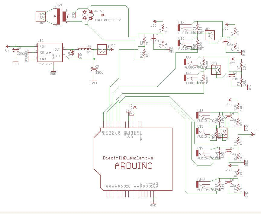 Schematic Arduino Energy monitor