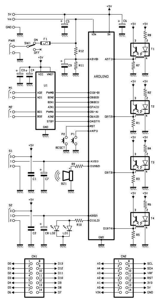 Schematic Arduino Fighting Robots