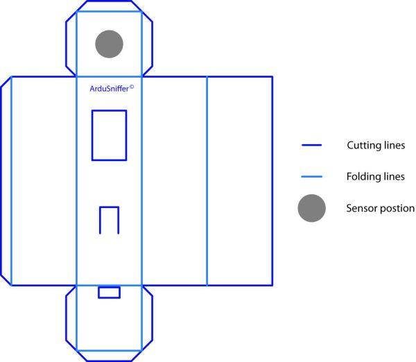 Schematic Arduino Gas detector