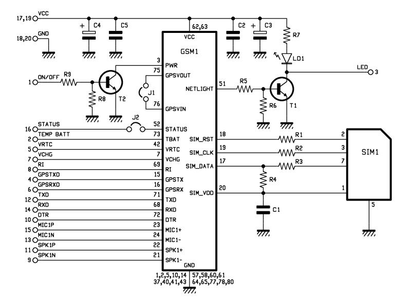 Schematic Arduino SIM908 module