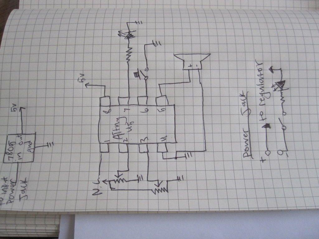 Schematic Arduino compatible Luna Mod Looper