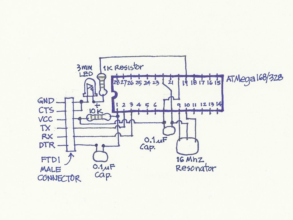 Schematic USB Freeform Arduino