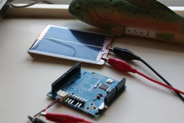 Solar powered arduino