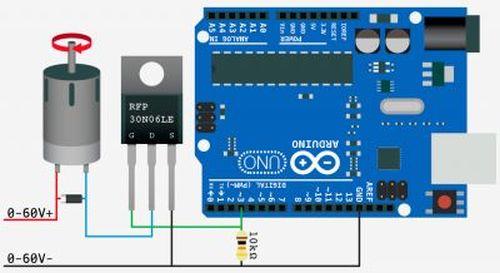 arduino PIR motion water gun circuit