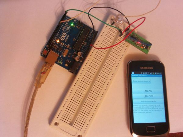 control arduino board using an android phone and a bluetooth module