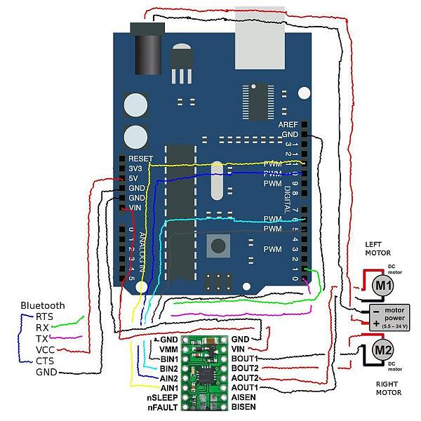 schematic Arduino robots