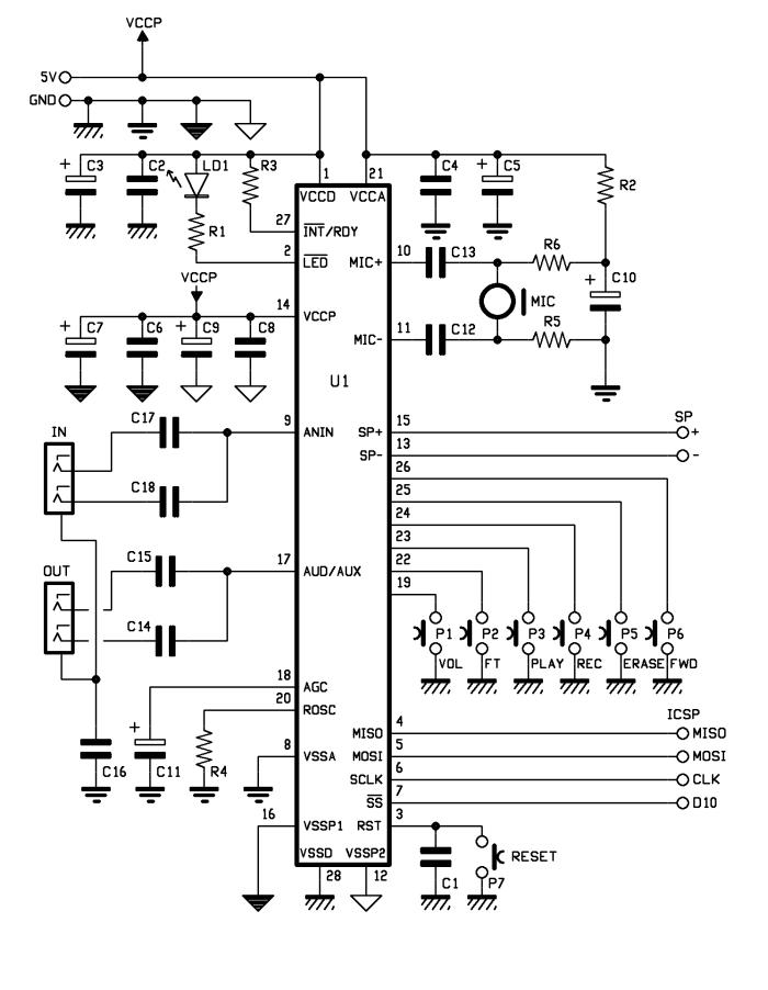 schematic Voice Shield for Arduino