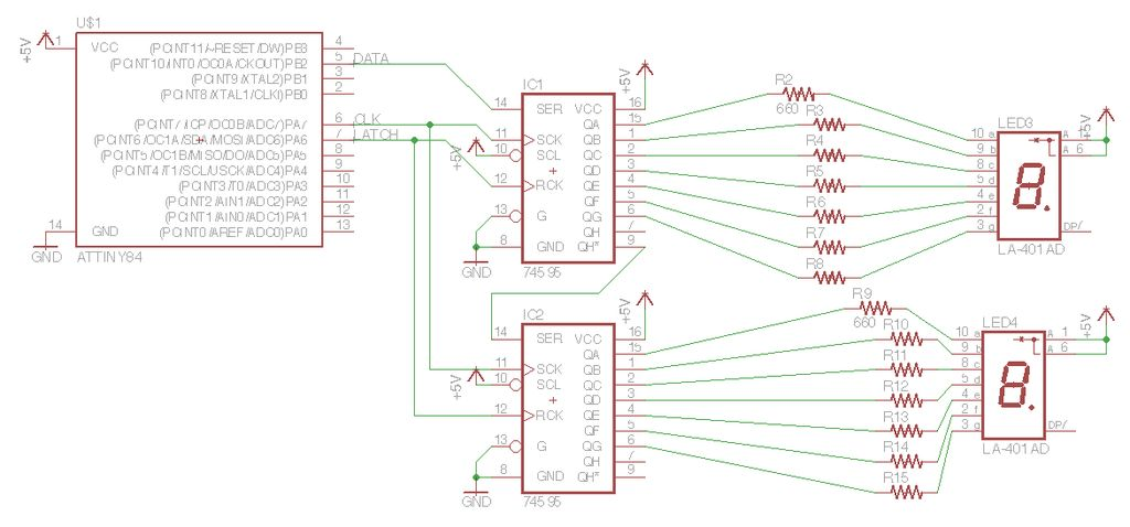 ATTiny powered Arduino Projects Schematic