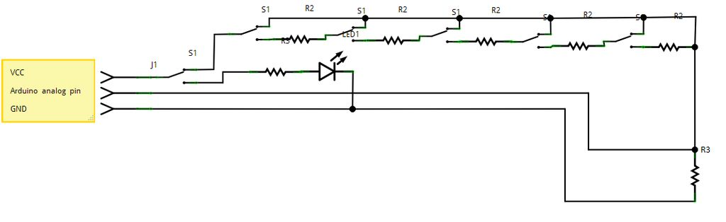 Arduino Analog reading box circuit