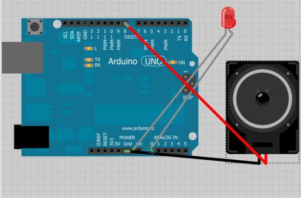 Arduino Audio Annoyatron wiring