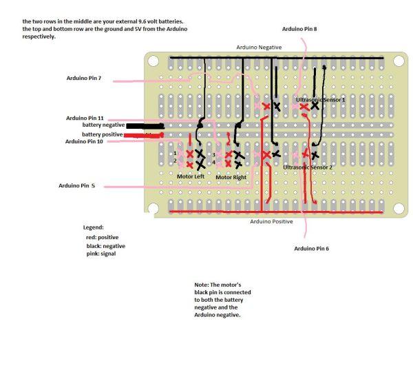 Arduino Autonavigation Robot circuit