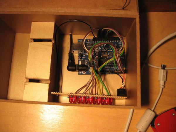 Arduino Binary Alarm Clock connecting