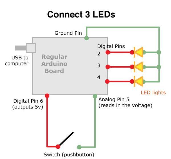 Arduino Board Game circuit