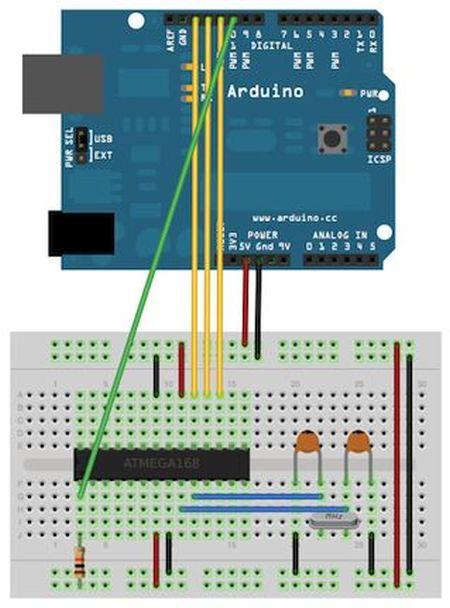 Arduino Bootload Shield circuit