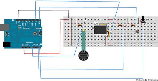 Arduino Combo Blocks circuit