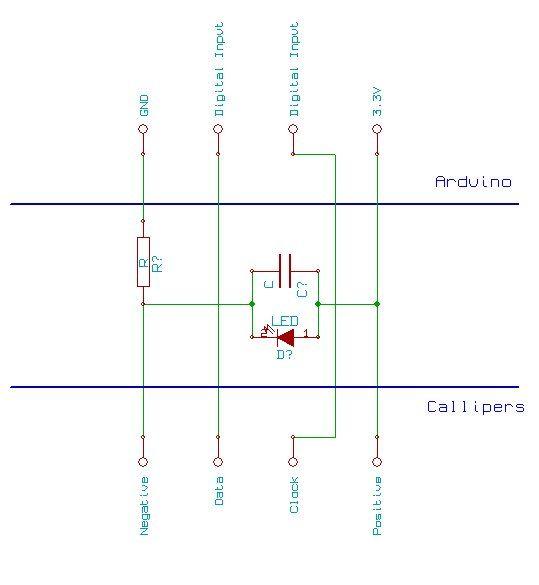 Arduino Digital Calliper circuit