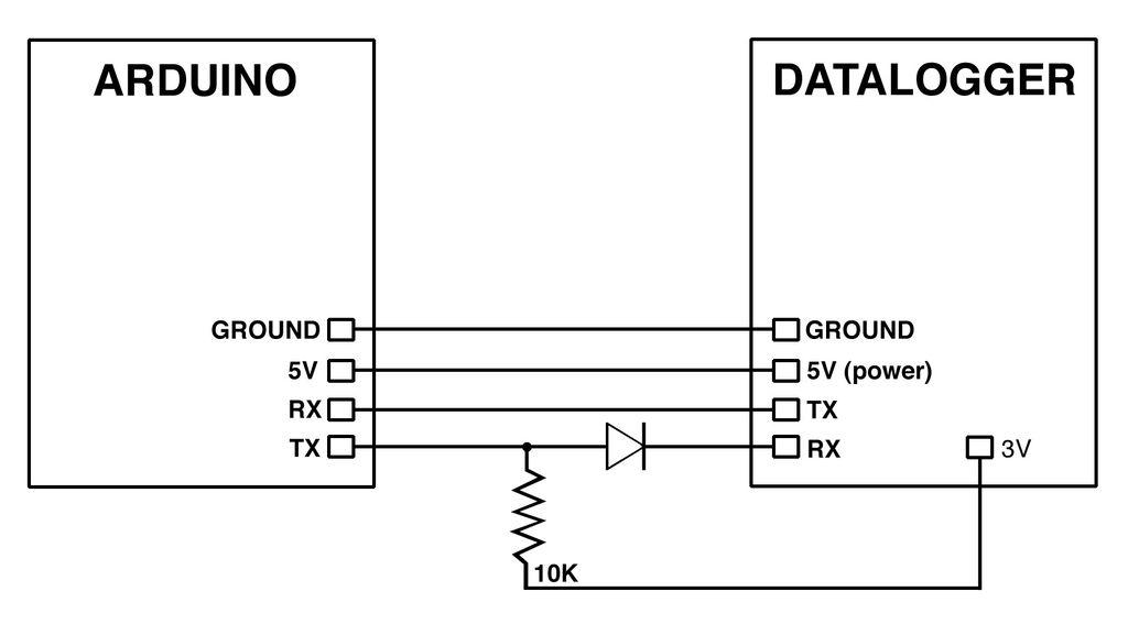 Arduino Discreet Data Logger circuit
