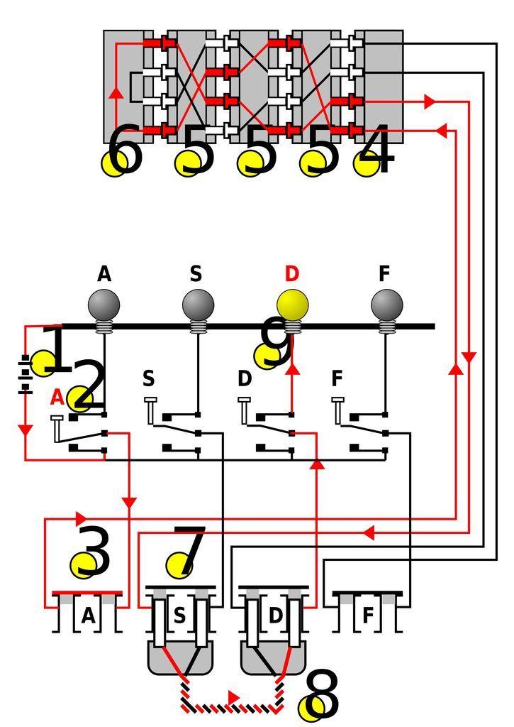 Arduino Enigma Machine circuit