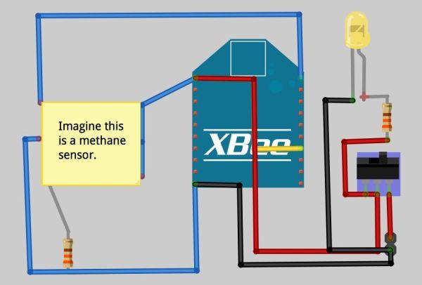 Arduino Gas Cap circuit