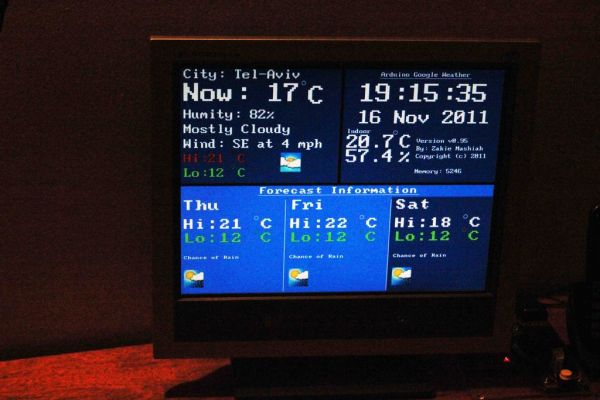 Arduino Google Weather