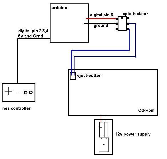 Arduino Keyless Entry System circuit