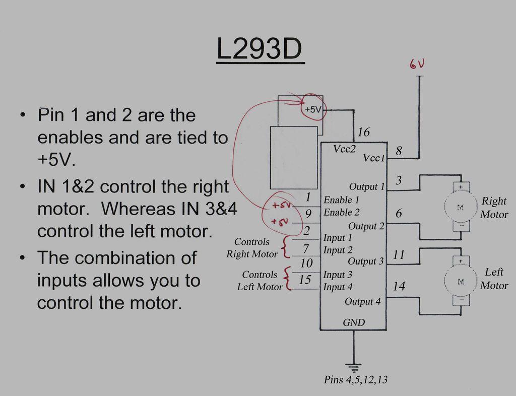 Arduino L293D Robot circuit