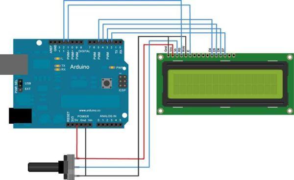 Arduino LCD from a fax machine circuit