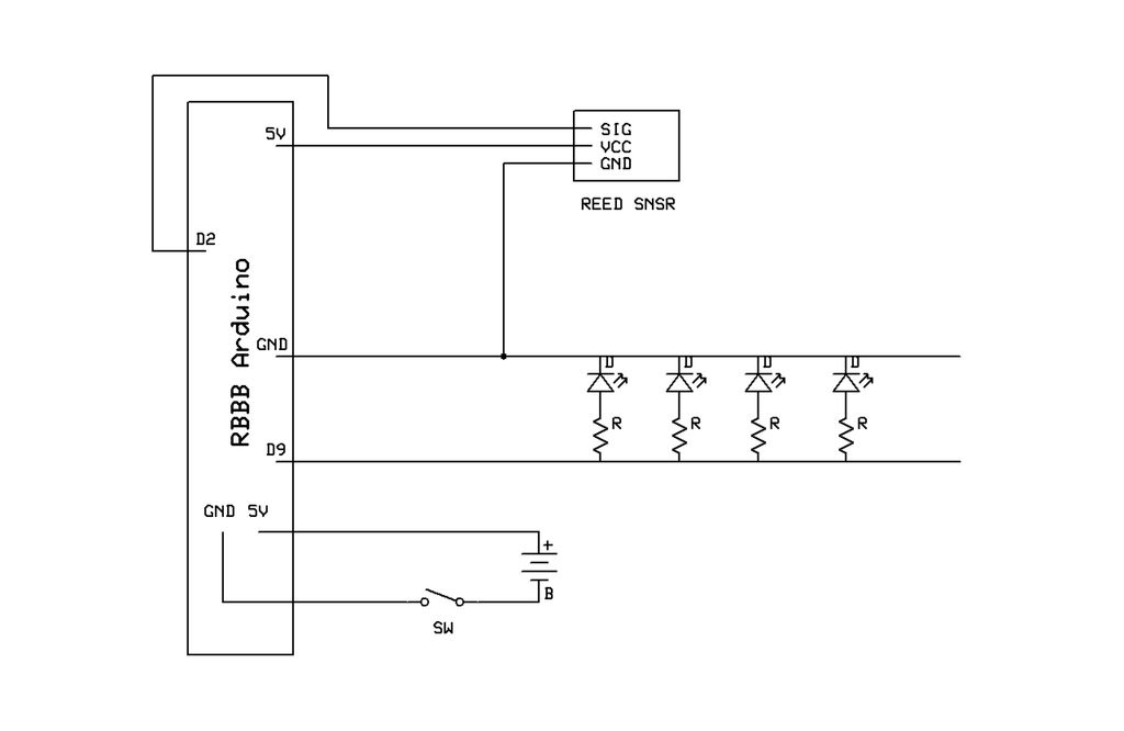 Arduino LED Sneakers Circuit