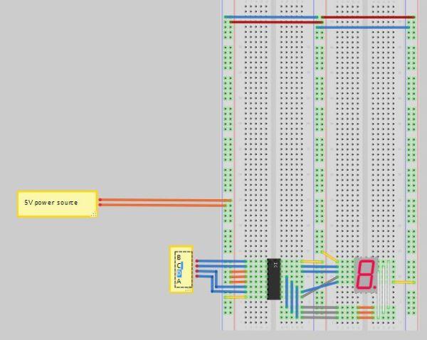 Arduino LED display decoder circuit