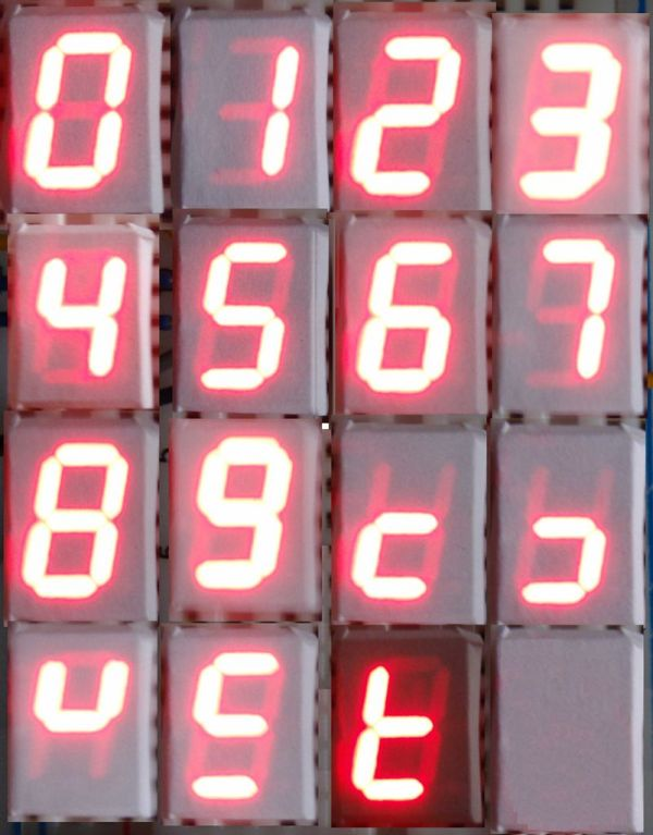 Arduino LED display decoder