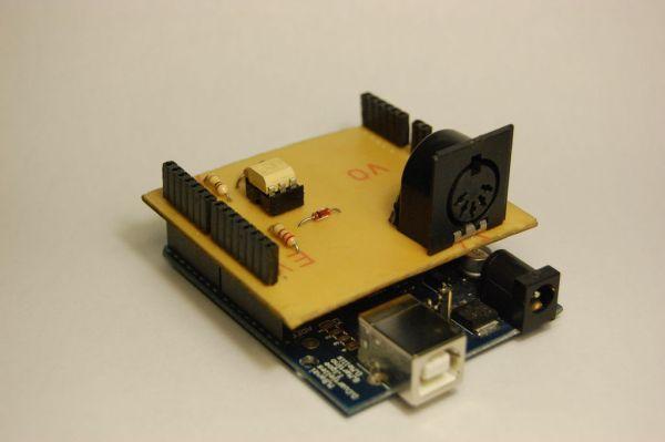 Arduino MIDI-in shield