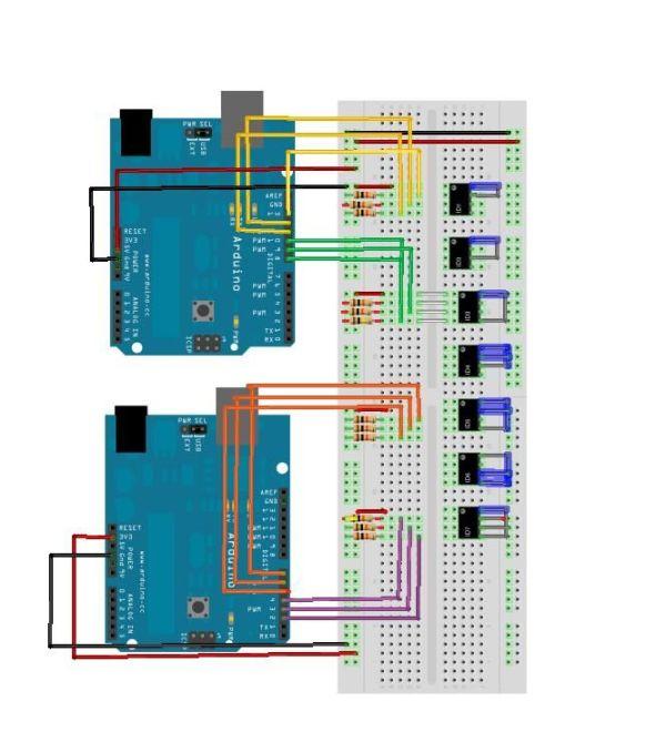 Arduino Musical Table circuit
