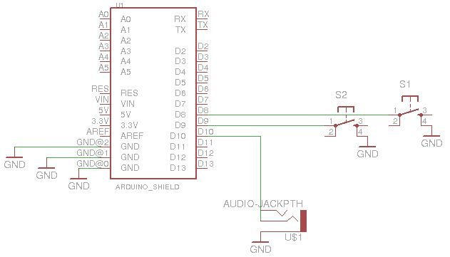 Arduino Noise Machine schematic