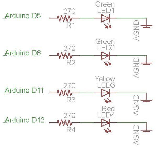 Arduino Parking Sensor circuit