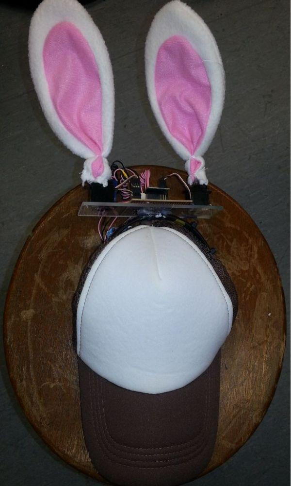 Arduino Rabbit Ears on a Cap