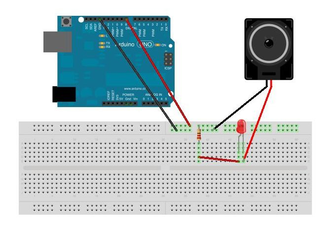 Arduino SOS signal with Speaker circuit