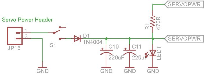 Arduino Servo Controller schematic