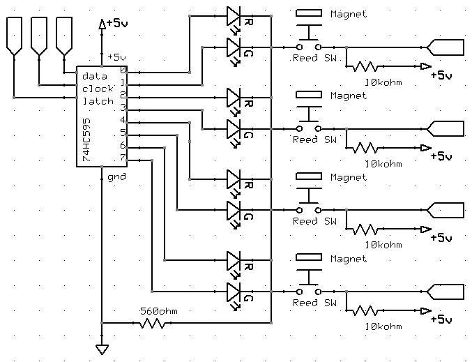 Arduino Target Practice circuit